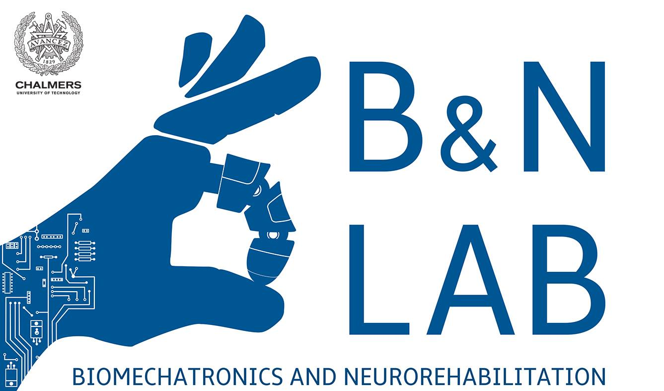 Image of the Avancez Chalmers logo and the logo for the Biomechatronics and Neurorehabilitation Laboratory