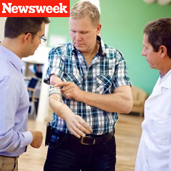 Newsweek: Mind-Controlled Prosthetic Arm Tested in Sweden - 8/10/2014
