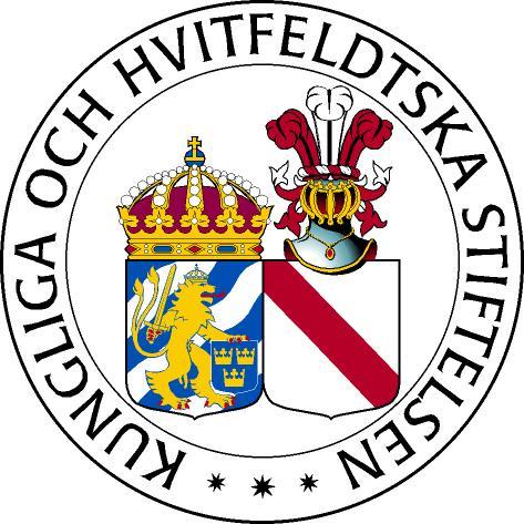Kungliga och Hvitfeldtska stiftelsen logo
