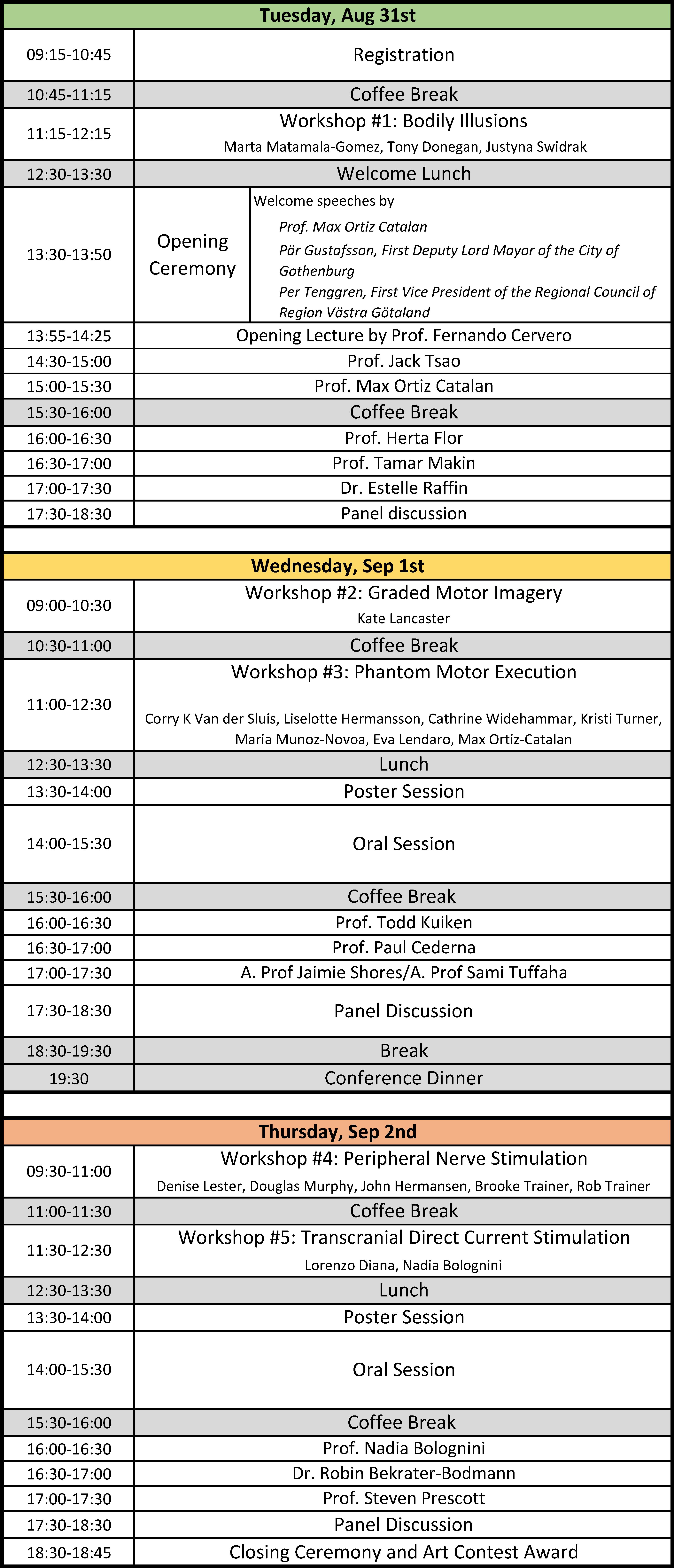 Image of Conference Program.